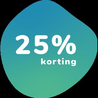 25% korting op een combi abonnement